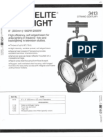 Strand Century Lighting 3413 8-Inch Fresnelite Spotlight Spec Sheet 6-77