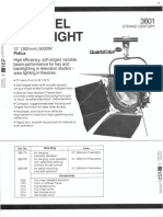 Strand Century Lighting 3601 Pollux 12-Inch Fresnel Spotlight Spec Sheet 6-77