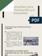 importacion para transformacion