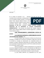 Jurisprudencia 2016- Lopez, Octavio c Pe Pcia s Accion Contenciosa Administrativa