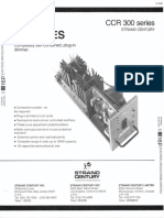 Strand Century Lighting CCR 300 Series Dimmer Modules Spec Sheet 6-77