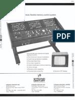Strand Century Lighting Multi-Q Memory Lighting Control System Spec Sheet 6-77