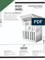 Strand Century Lighting Saf-T-Patch Patch Panel Overhead Spec Sheet 6-77