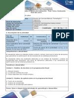 Guía de actividades y rubrica de evaluación - Post-Tarea - Evauación final del curso