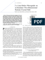 Analysis of a Line-Defect Waveguide