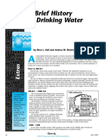 A BRIEF HISTORY OF DRINKING WATER