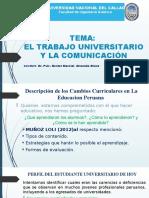 1)El trabajo universitario y la comunicación