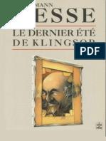 Hermann Hesse - Le dernier ete de Klingsor- Jericho