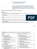 Performance Review Reference Guide 2 Example Feedback Comments