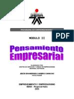 2. MÓDULO II - PENSAMIENTO EMPRESARIAL