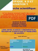 P5 Recherche Scientifique RD et Innovation T