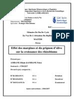 Effet des margines et du grignons d'olive sur la croissance des rhizobiums