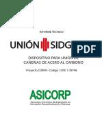 Descripcion y diseño Union Sidgman