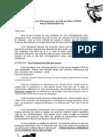 Carta Presentación y Condiciones de garantía Inglés