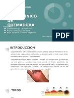 CASO CLÍNICO - QUEMADURA
