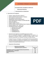 Plan docente Administración de crédito II Claudia Jaramillo