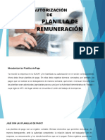 AUTRIZACIÓN DE PLANILLAS