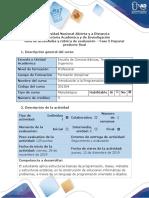 Guía de actividades y Rubrica de evaluación - Fase 5 Depurar producto Final
