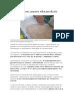 Receta para preparar sal mineralizada
