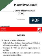 SEMANA 6_TASA DE COSTO EFECTIVA ANUAL (TCEA)