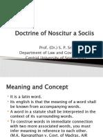 Doctrine of Noscitur a Sociis