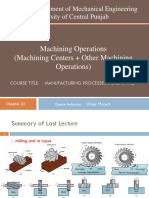 Lecture 7 (Machining Operations, Planing, shaping)