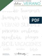 EL CLUB DEL LETTERING - PLANTILLA PALABRAS - VERANO.pdf