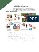 Guía  afiche 3 nivel párvulo