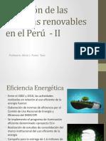 Situación de las Energías renovables en el Perú