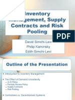 Ch 03 Inventory Management Supply Contracts and Risk Pooling