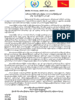 8888 joint statement 2008 Burmese