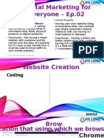 Digital marketing creation of database and other stuffs
