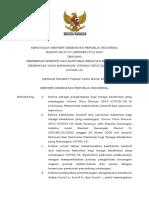KMK No. HK.01.07-MENKES-278-2020 ttg Pemberian Insentif dan Santunan Kematian NAKES Yang Menangani COVID-19