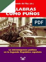 Del Rey Fernando - Palabras Como Puños, SOBRE ANTES DE LA GUERRA CIVIEL ESPAÑOLA