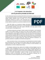 Manifiesto - Derechos Personas Presas