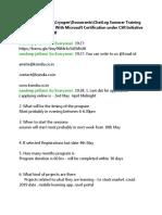 ChatLog Summer Training Internship Program With Microsoft Certification under CSR Initiative 2020_05_02 19_54
