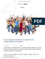 Agustín Grau_Independencia económica, dinero e ingresos