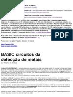 Circuitos básicos de Detecção de Metais