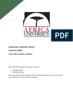 monetary Economics Assignment.docx