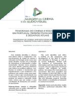 PANORAMA DO CINEMA E EDUCAÇÃO EM PORTUGAL