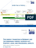 PPT -  The Energy Transition In Germany And The Renewable Energy Sources Act Context, Legal And Procedural Aspects