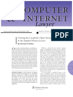 Closing the Loophole_Open Source Licensing & the Implied Patent License_Nadan