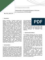 Shimadzu_Determination of 59 potential Allergens in Perfumes by Comprehensive GCXGC(qMS)