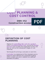 CHAPTER 7 - Cost planning and cost control
