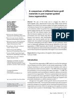 A comparison of different bone graft materials in peri-implant guided bone regeneration