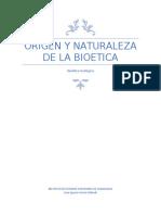 origen y naturaleza de la bioetica
