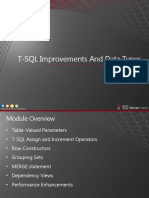 T-SQL Improvements And Data Types