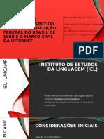 ENUNCIAÇÃO E RELAÇÕES DE SENTIDO - AP. DISSERTAÇÃO M.E