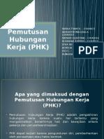 Pemutusan Hubungan Kerja (PHK) by SABILA TSANI R Dkk