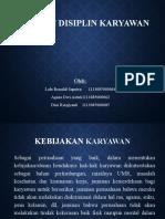 Hak Dan Disiplin Karyawan by Lalu Renaldi Saputra Dkk